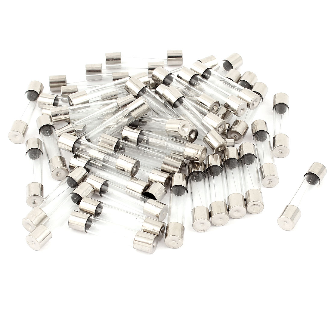 250V 6.3A Fast Quick Blow Low Breaking Glass Tube Fuses 6mm x 30mm 50 Pcs