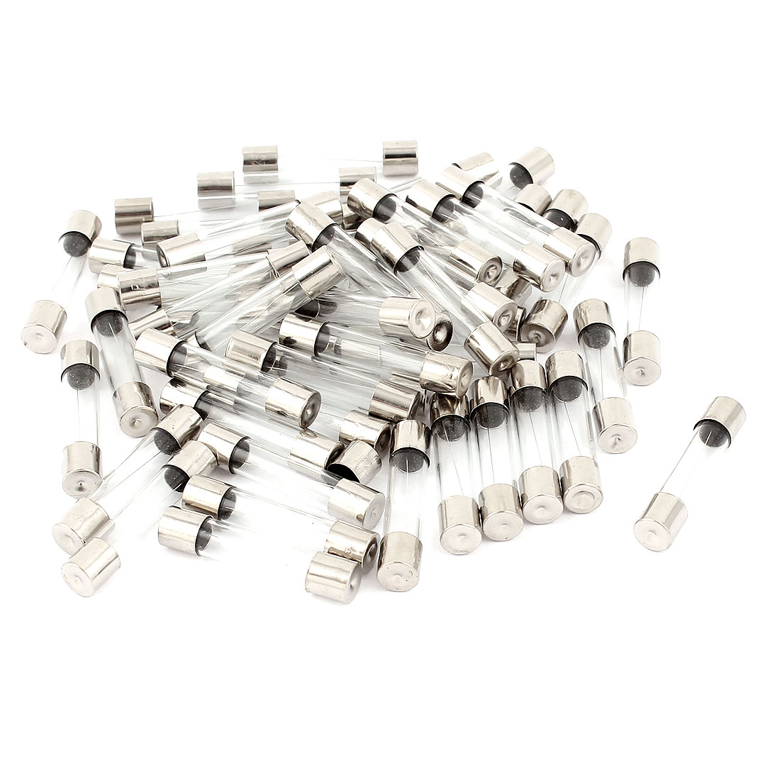 125V 2.5A Fast Quick Blow Glass Tube Fuses 6mm x 30mm 50 Pcs