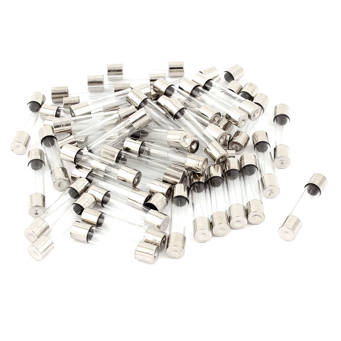 250V 5A F5AL250V Fast Quick Blow Glass Tube Fuses 6mm x 30mm 50 Pcs