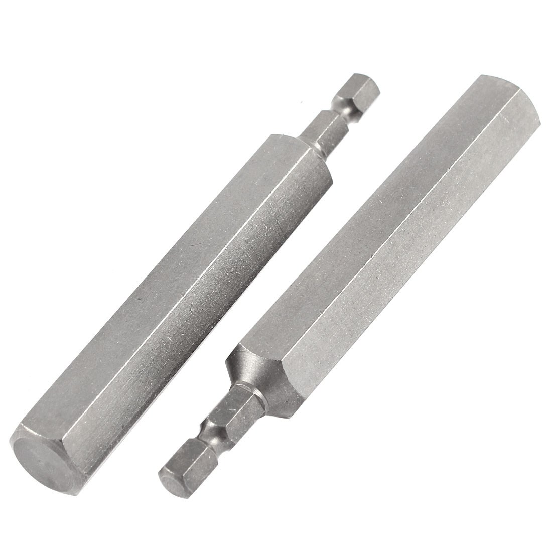 "1/4"" Shank 14mm Hexagon Head 100mm Long Magnetic Wrench Screwdriver Bit 2pcs"