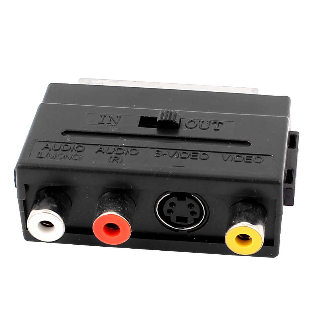 RGB Scart Male to 3 RCA Phono S-Video Audio Video AV Adapter Converter