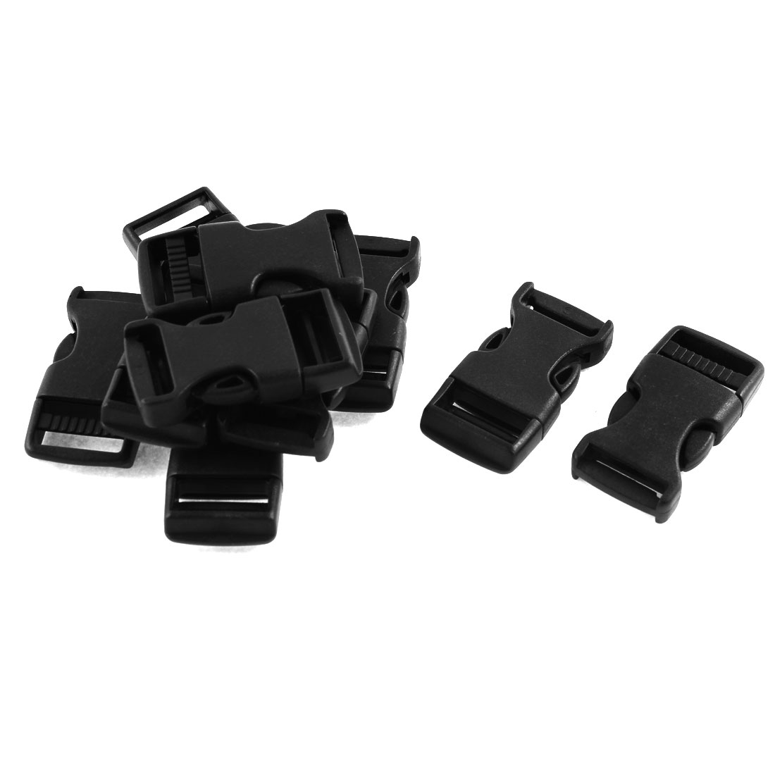 """10Pcs 3/4"""" Width Strap Safety Side Quick Release Buckles Black"""