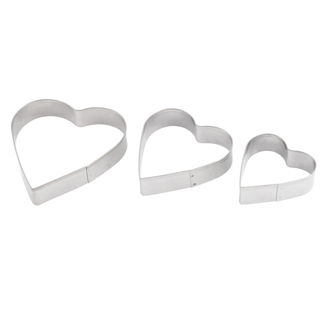 3PCS Metal Heart Design Biscuit Cookie Cake Cutter Mold Mould Decor Baking DIY Tool