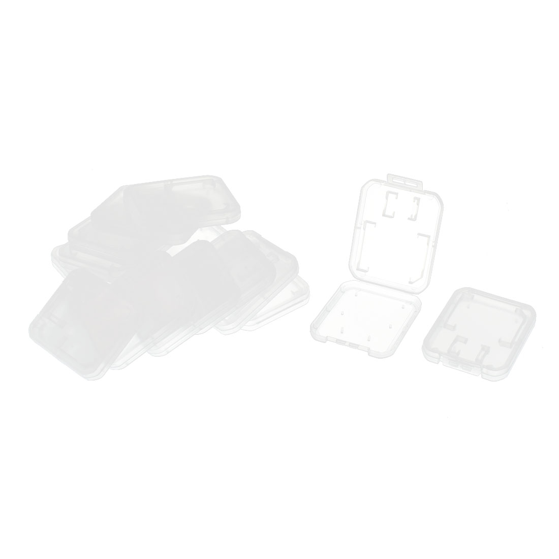 15Pcs Clear SD MS Micro TF Memory Card Storage Holder Box Case Protector
