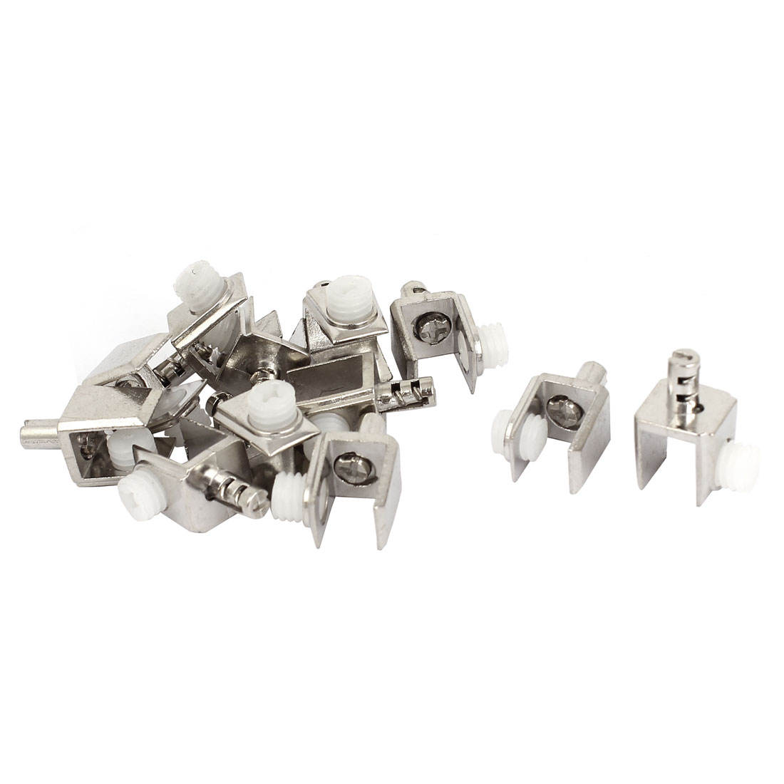 6mm-8mm Thickness Adjustable Screw Zinc Alloy Glass Clip Clamp 12 Pcs