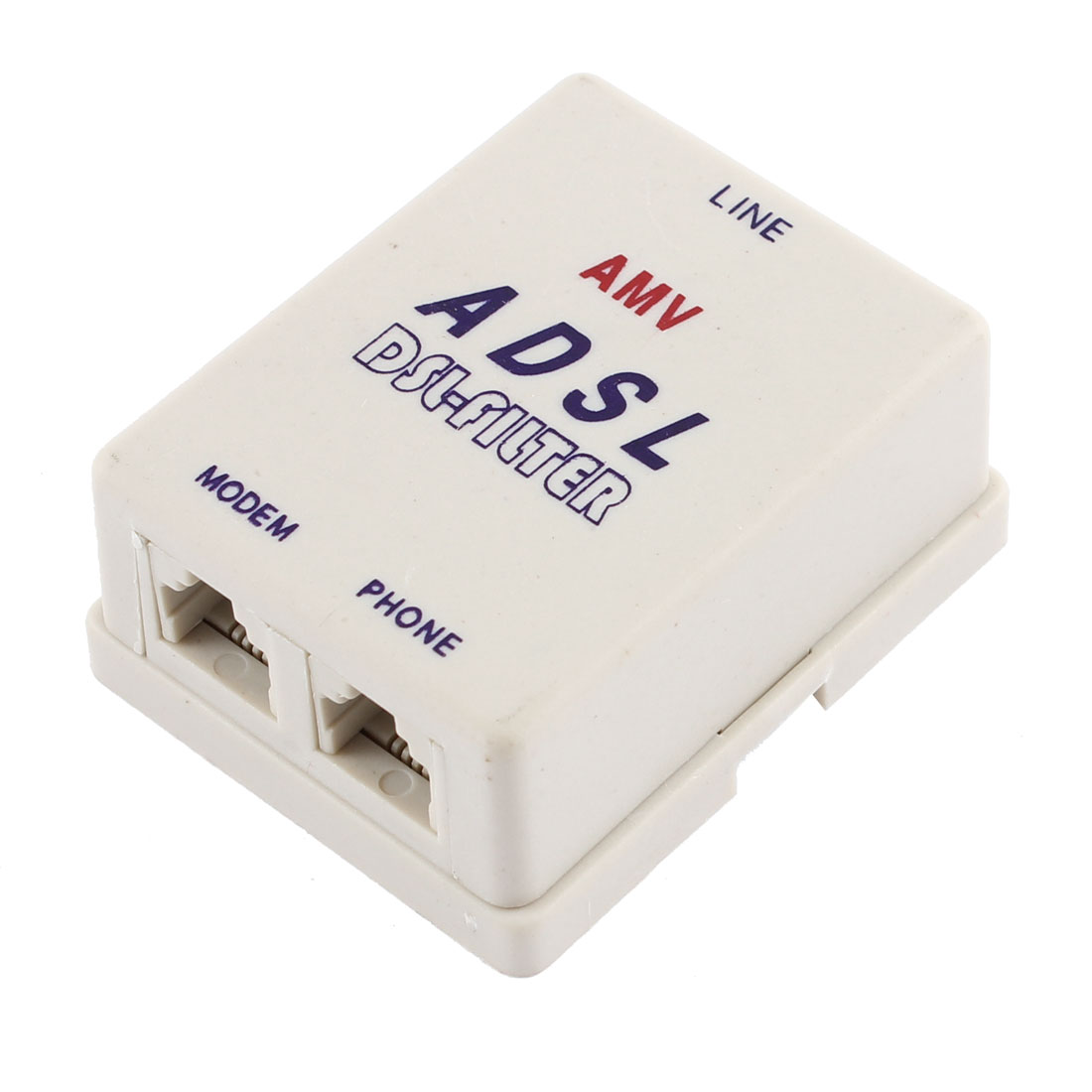 RJ11 6P2C Telephone Phone Networks Modem Splitter Adapter for Connecting ADSL Cable to Telephone Line