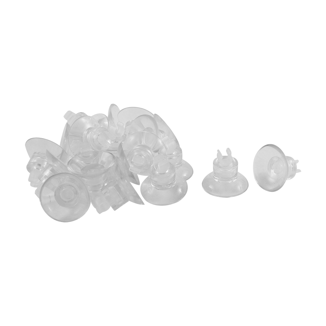 Aquarium Plastic Airline Tube Holders Clips Clamps Suction Cup Clear 20 Pcs