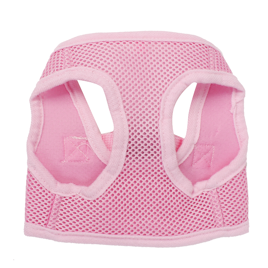Pet Puppy Dog Adjustable Side Release Buckle Mesh Harness Vest Pink Size XS