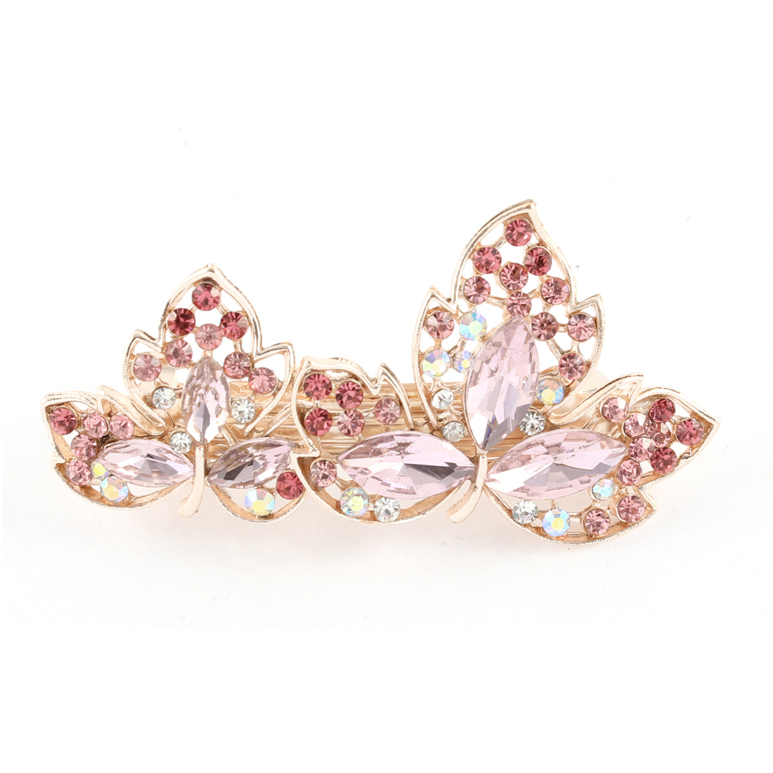 Rhinestone Glittering Floral French Hair Barrette Hairclip Hairpin