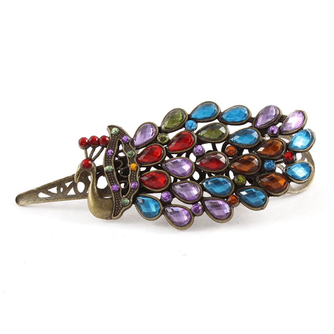 Rhinestone Bling Lady Hair Barrette Hairpin Hairclip Gift Colorful