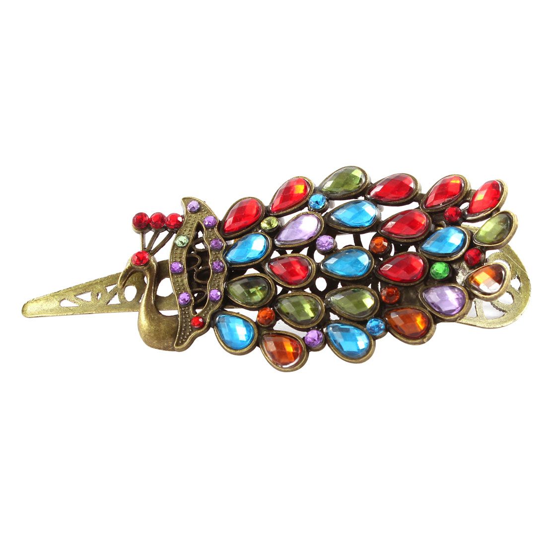 Retro Style Rhinestone Hair Barrette Hairclip Claw Headband Colorful