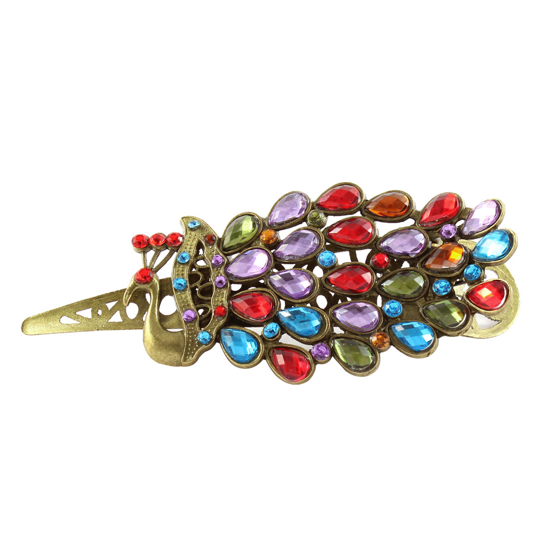 Peacock Design Glittering Hair Clip Hairpin Barrette Claw Gift