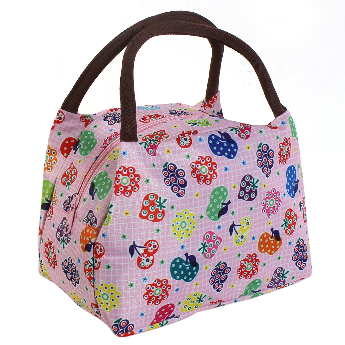Women Fruit Pattern Portable Cosmetic Bag Holder Pouch Colorful