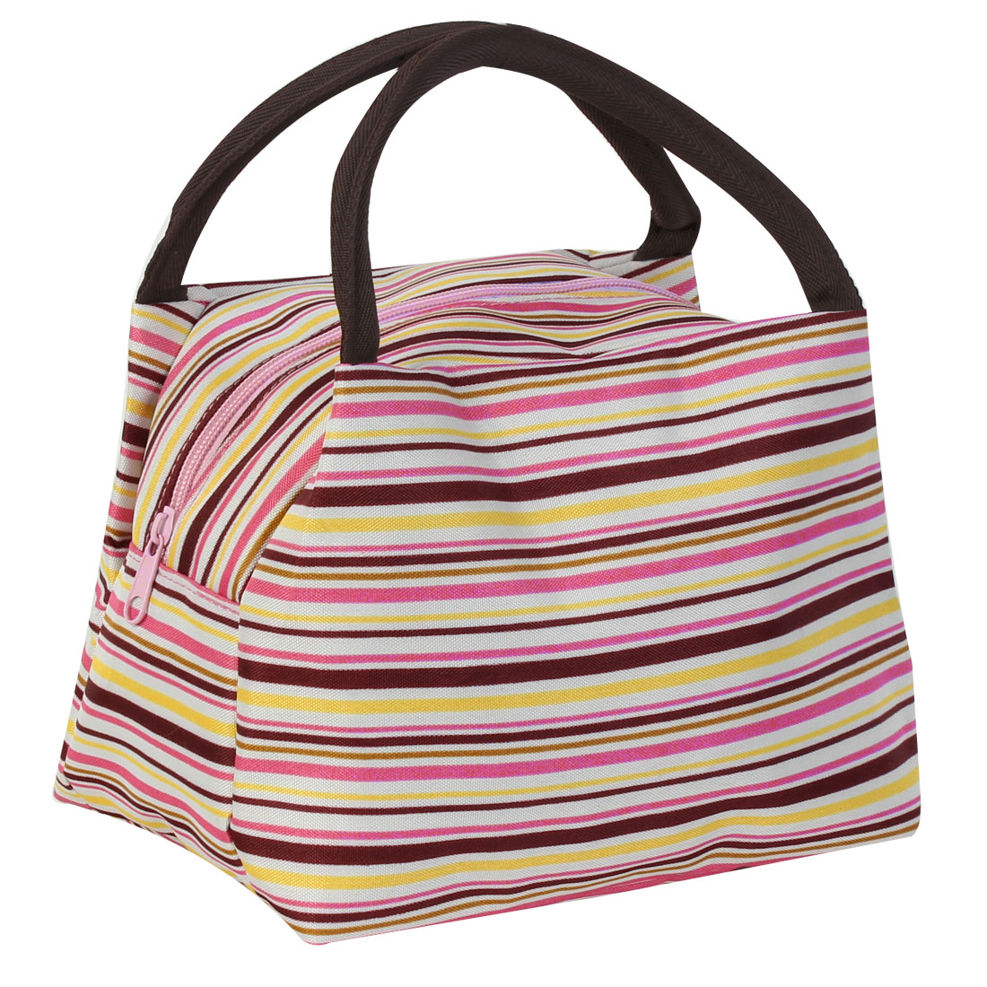Canvas Stylish Stripe Pattern Makeup Pouch Bags Cosmetic Holder