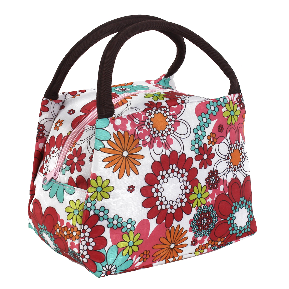 Lady Flower Pattern Handheld Cosmetic Bag Holder Case Colorful