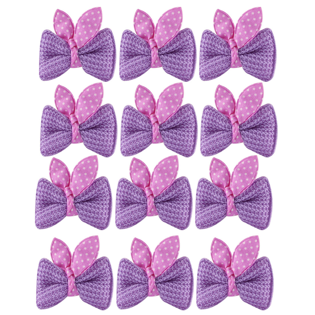 6 Pairs Boutique Hair Bows Girls Hairclip Headband Barrette Purple