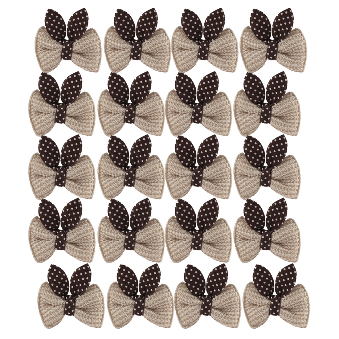 10 Pairs Mini Bowknot Decor Girl Hair Clip Alligator Hairclip Khaki
