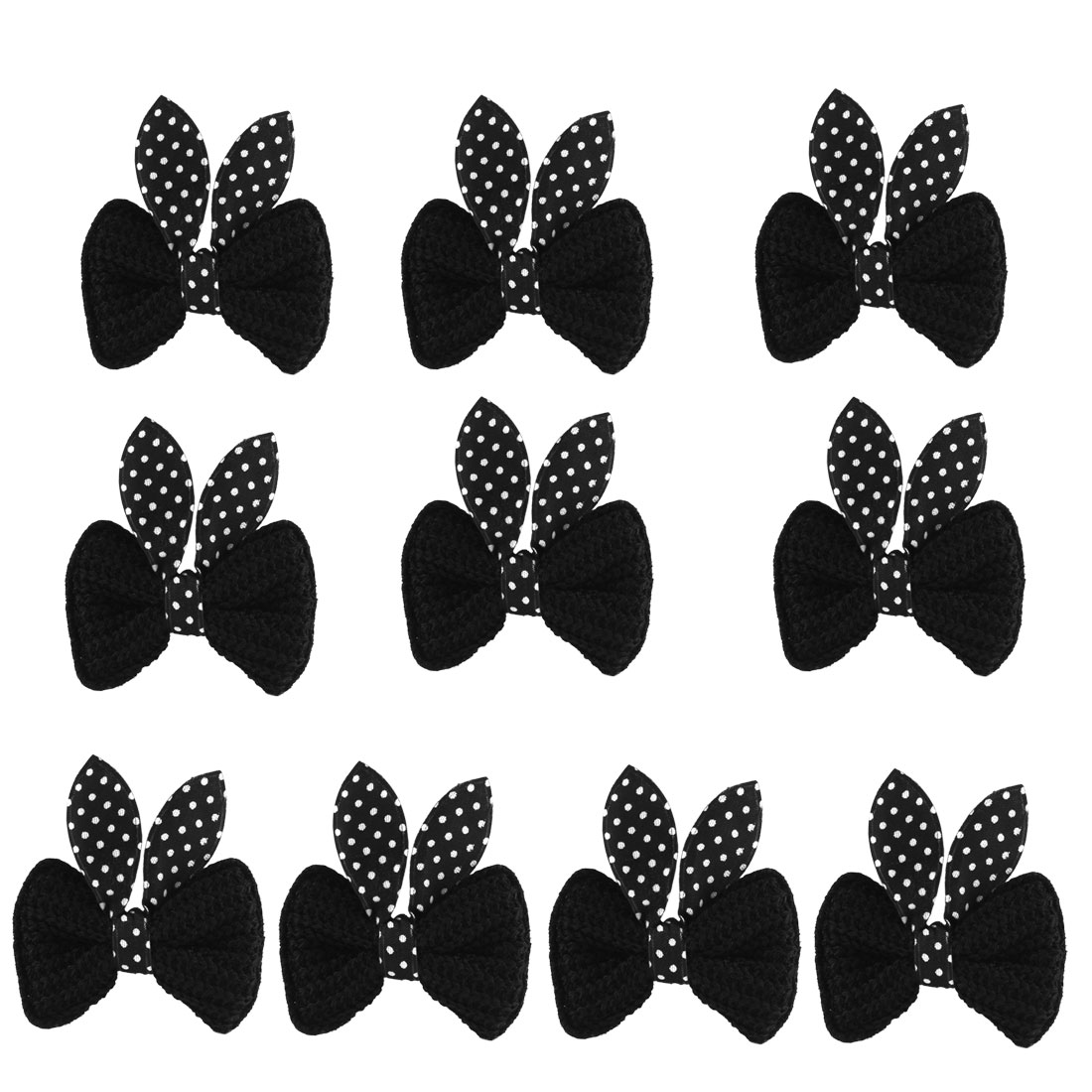 5 Pairs Boutique Girls Bow Hair Clip Alligator Hairclip Barrette Black