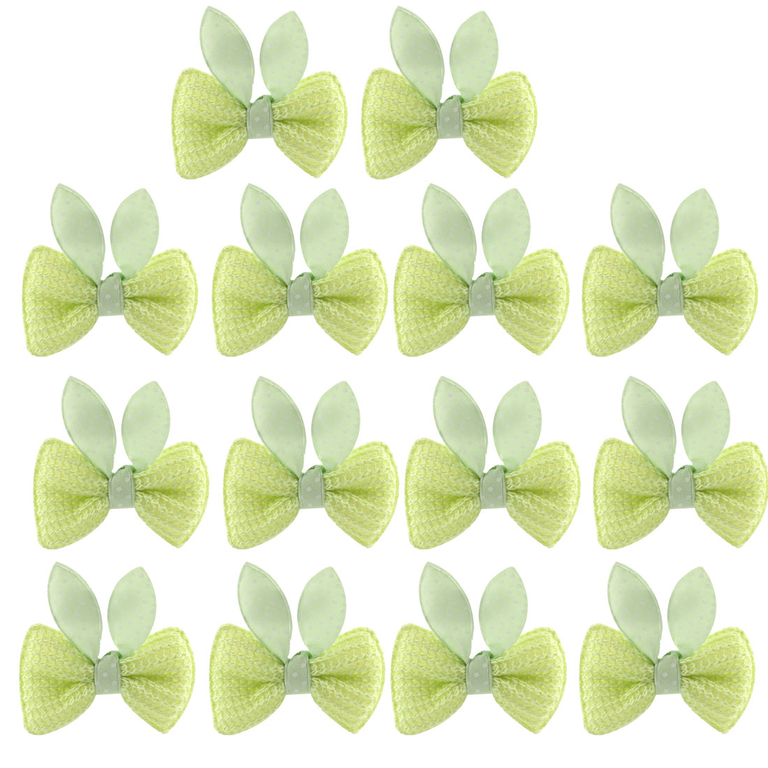 7 Pairs Girls Bowknot Hair Clip Alligator Hairpin Gift Light Green
