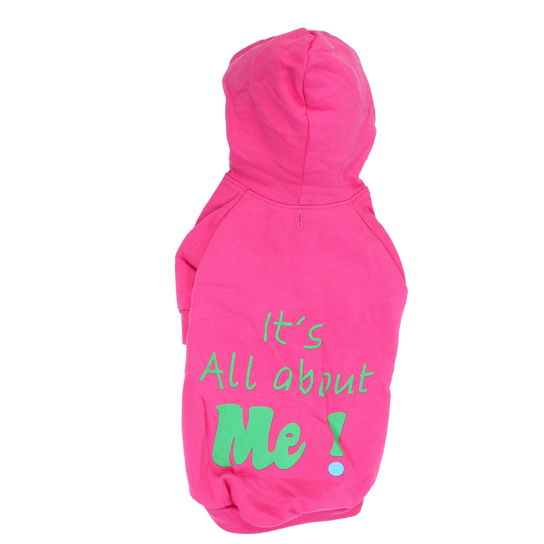 It is All About Me Pet Dog Warm Clothing Hoodie Coat Apparel Pink Size L