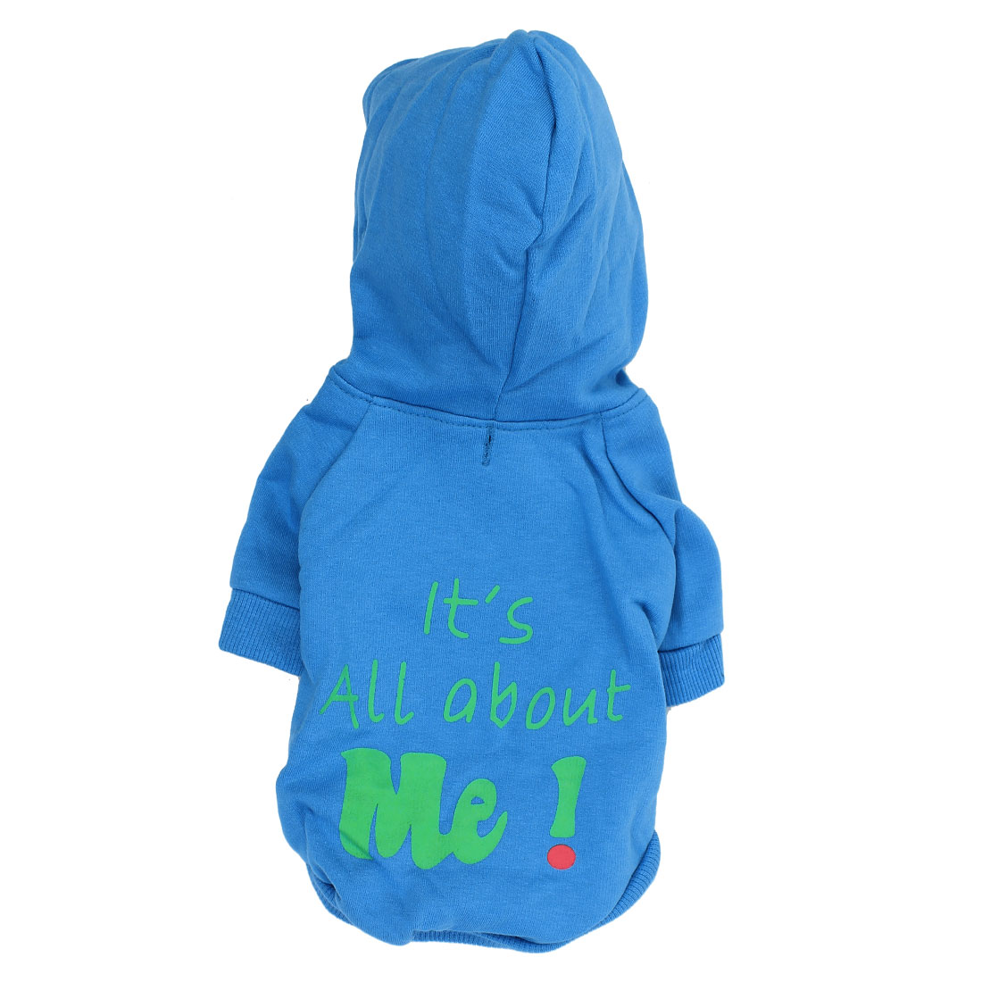 It is All About Me Pet Dog Autumn Clothing Hoodie Coat Apparel Blue Size S