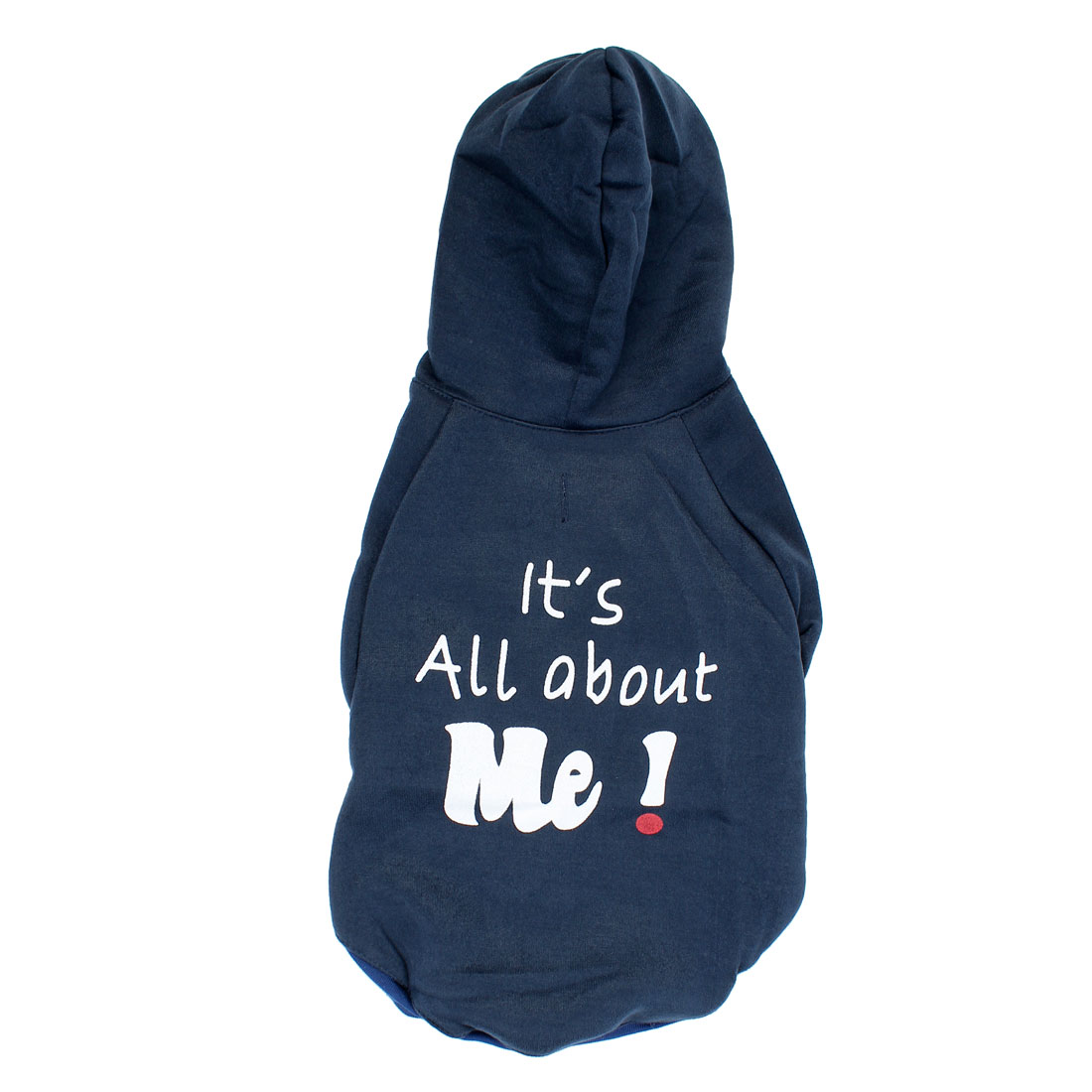 It is All About Me Pet Puppy Warm Clothing Hoodie Coat Apparel Navy Blue Size M