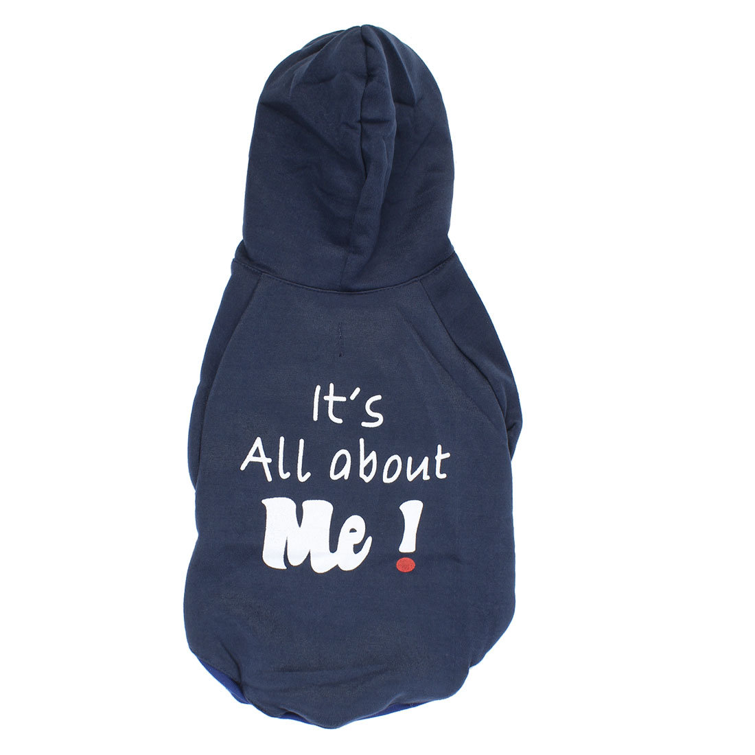 It is All About Me Pet Puppy Warm Clothing Hoodie Coat Apparel Navy Blue Size L