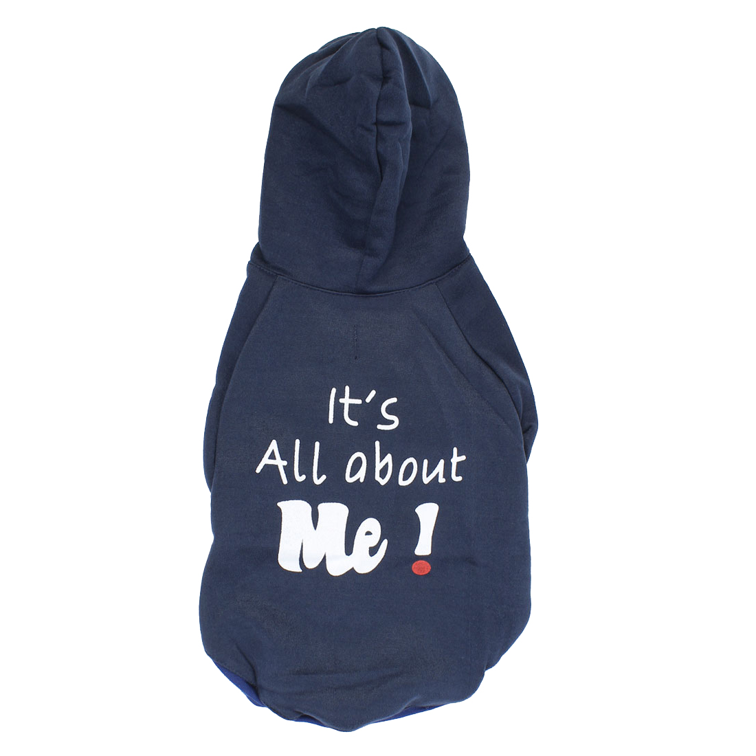 It is All About Me Pet Puppy Warm Clothing Hoodie Coat Apparel Navy Blue Size XL