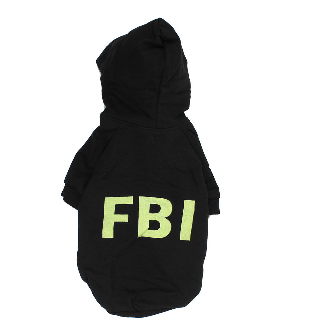 FBI Pet Doggie Yorkie Autumn Clothing Hoodie Coat Apparel Costume Black Size S