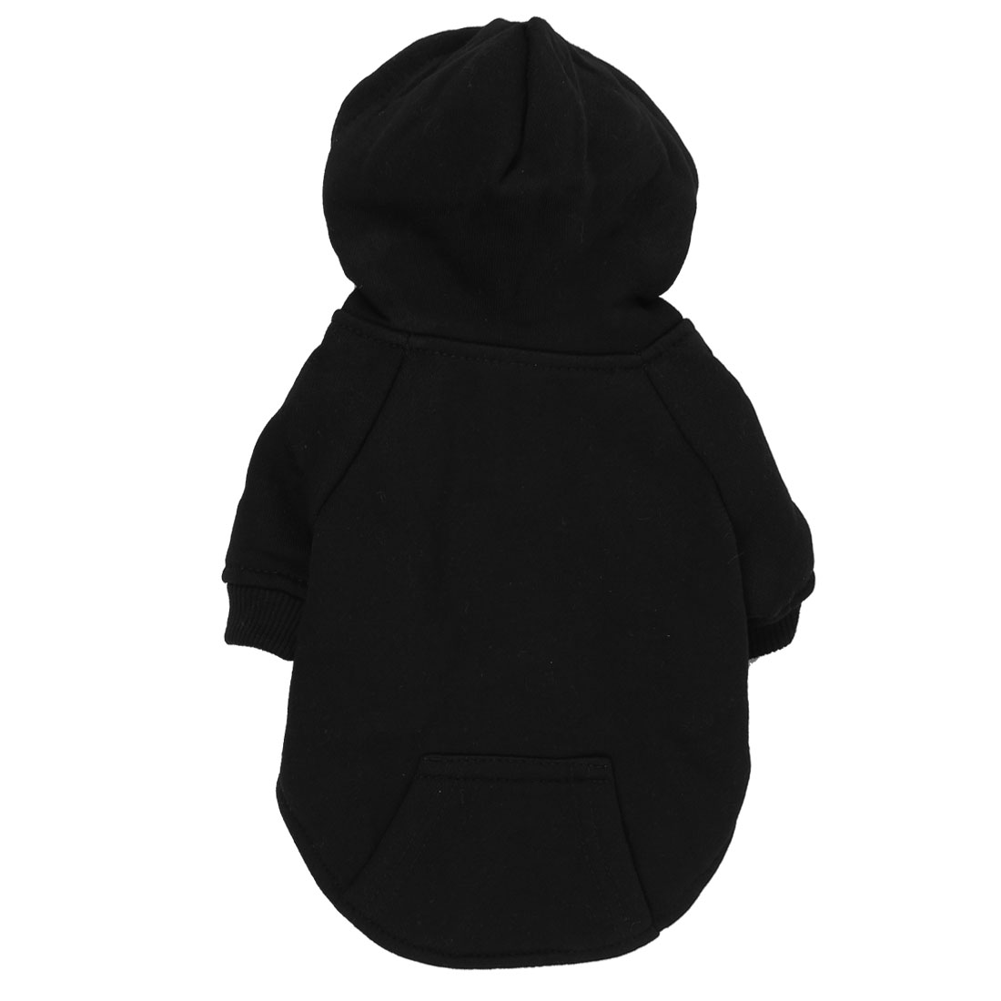Pet Puppy Warm Hoodie Single Breasted Sleeved Apparel Coat Clothes Black Size S