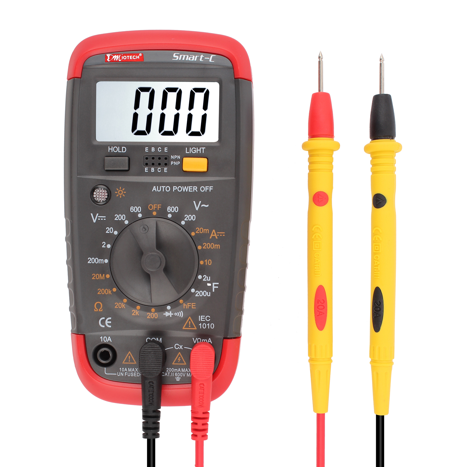 Smart-C Auto off Digital Multimeter DMM Capacitance Test Large LCD