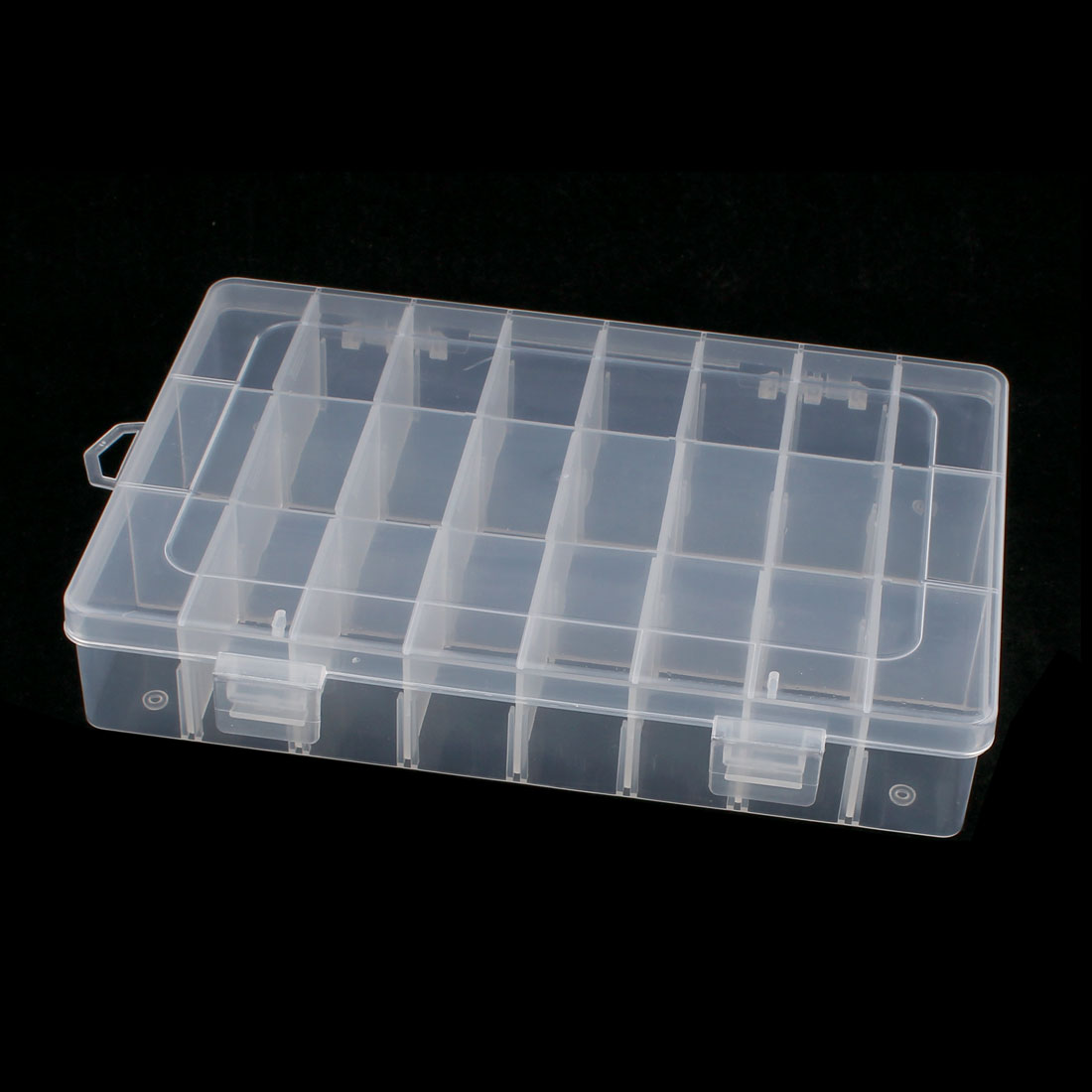 Electronic Components Tool Rectangle Plastic Detachable 24 Slots Storage Case Box Holder Organizer 195mmx130mm