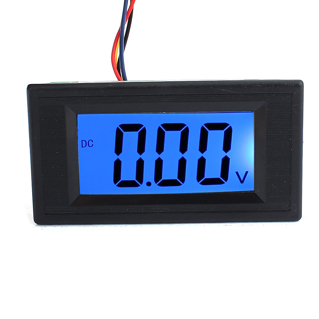 AC/DC 8-12V Blue LED Panel Mount 20V Voltage Meter 4 Digital Display Voltmeter