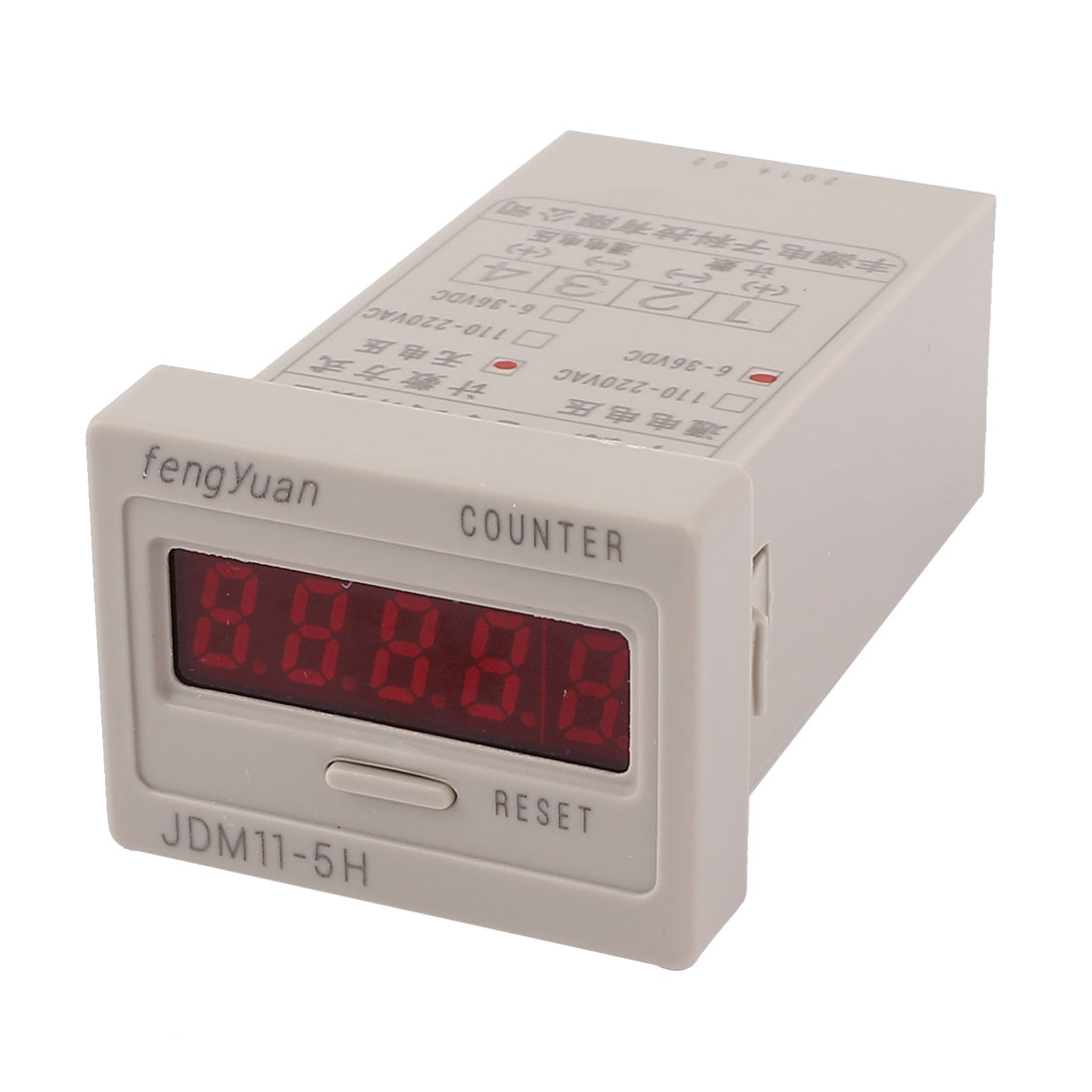 DC 6-36V 0-99999 Counting Range 5 Digit Totalizer Electromagnetic Calculation Press Reset Counter Tool