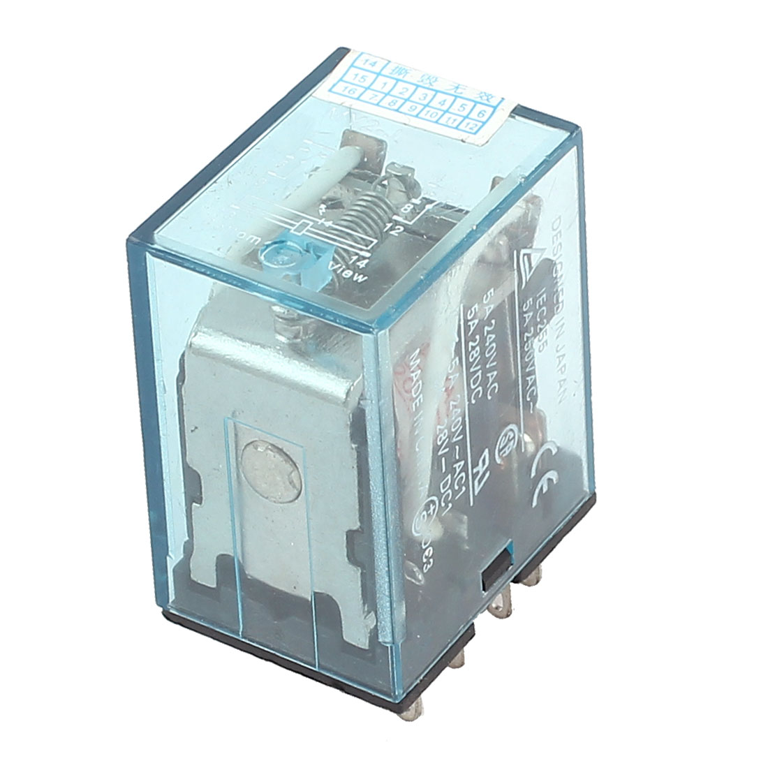 MY2-J AC 220V/240V Coil Voltage 8Pin 2PDT Power Electromagnetic Relay