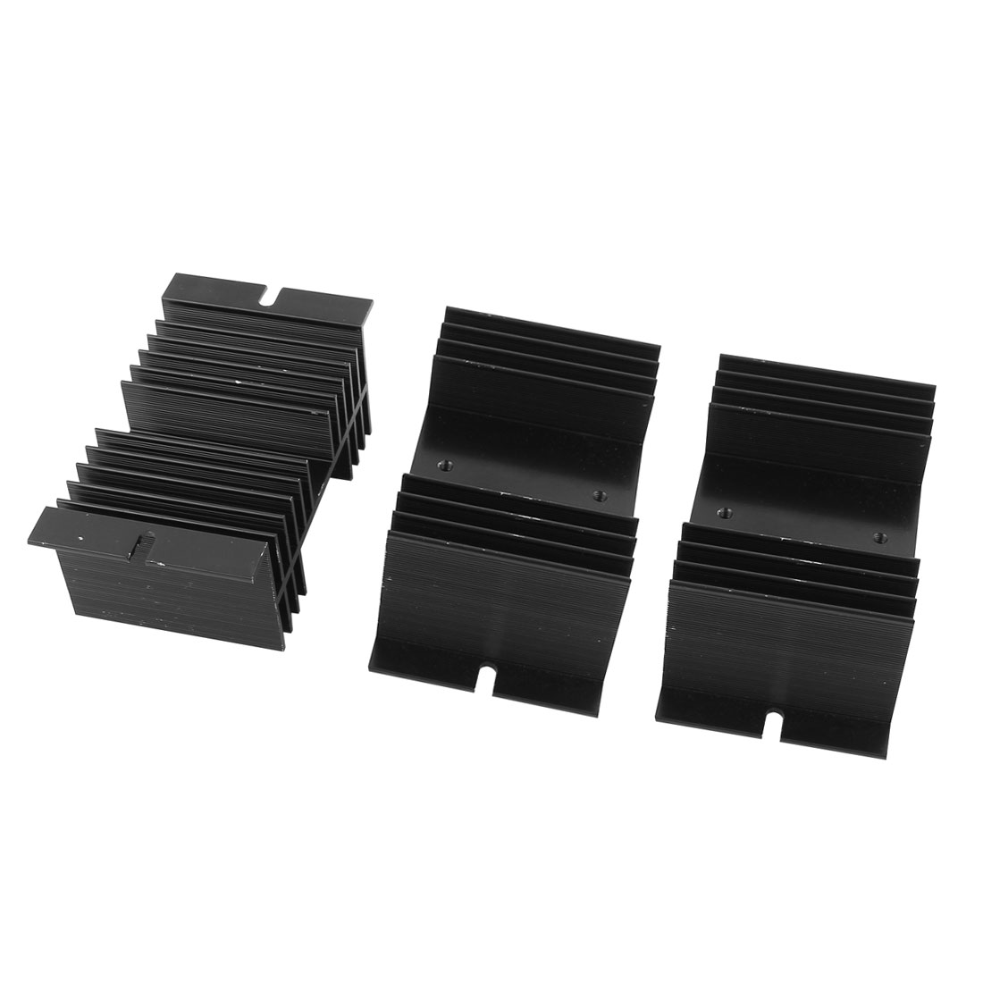3pcs 10mmx5mmx7mm Black Aluminium Heat Dissipation Heatsink Cooling Fin Cooler Sink for Solid State Relay SSR