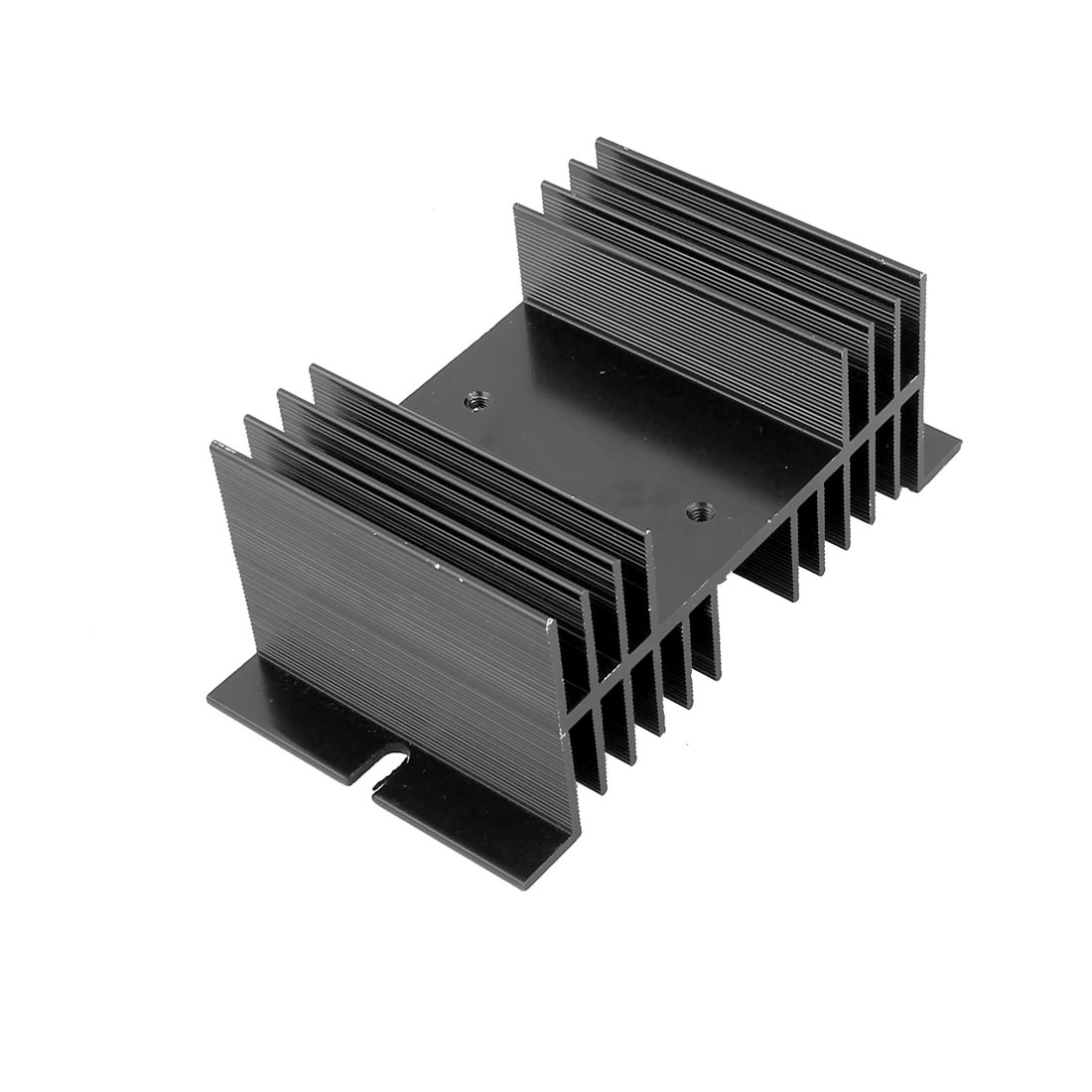 12.5mmx7mmx5mm Black Aluminium Heat Dissipation Cooling Heatsink Cooler Sink for Solid State Relay SSR