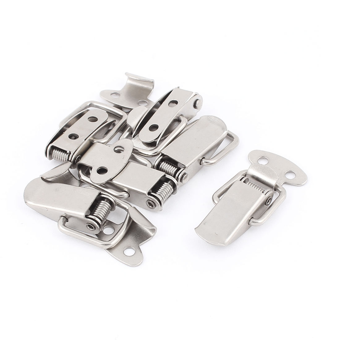 6pcs Spring Loaded Metal Suitcase Chest Tool Boxes Locking Toggle Latch Hasp Lock