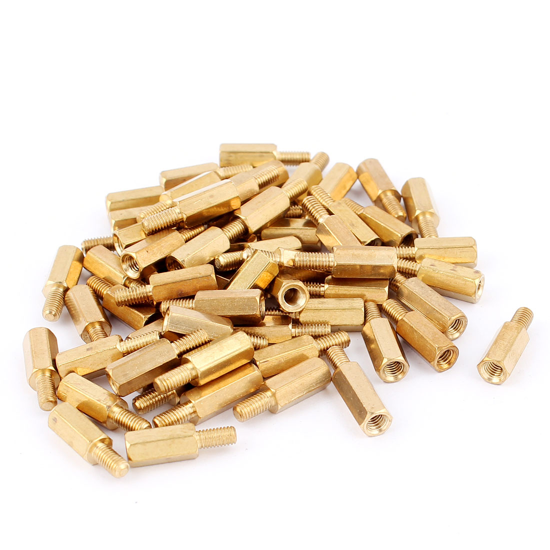 50Pcs M3 10mm+6mm Male to Female Brass Hex Standoff Spacer Pillar for PCB Motherboard