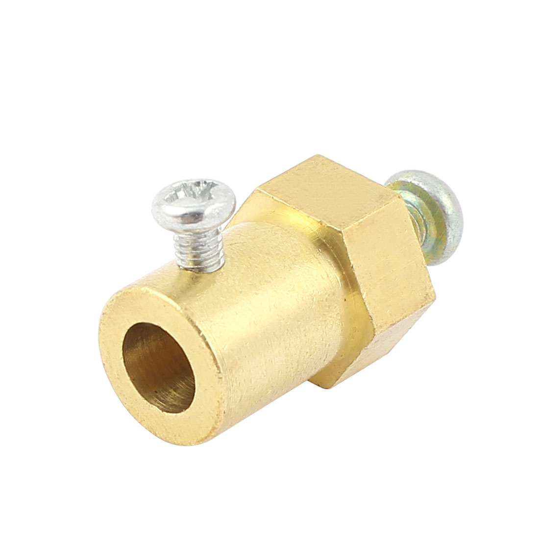 RC Model Wheels DC Gear Motor Reduction Brass Hex Coupling Coupler for 6mm Dia Shaft