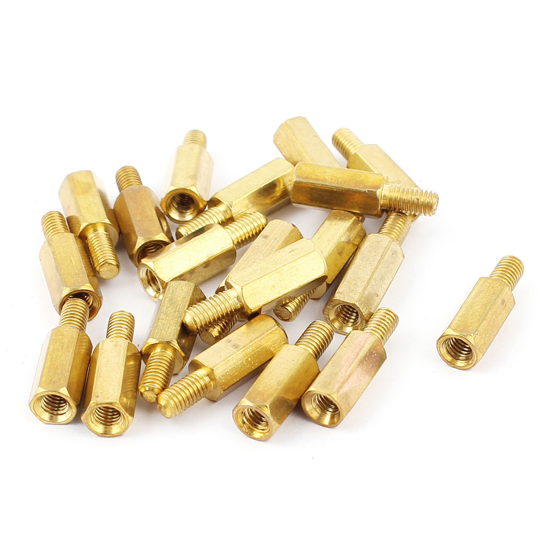20Pcs M3 10mm+6mm Male to Female Brass Hex Standoff Spacers Pillars Nuts for PCB Motherboard
