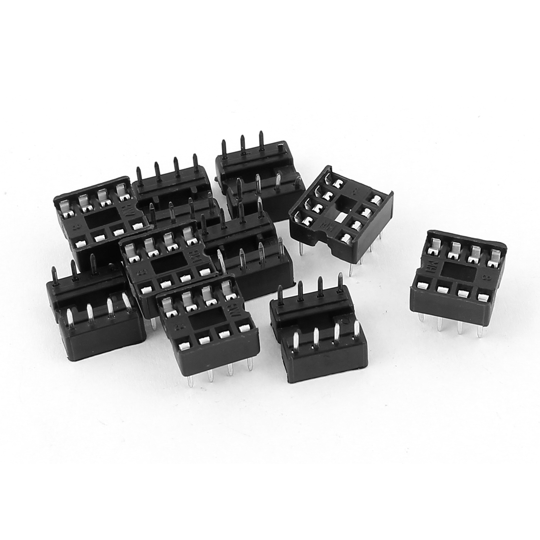 10pcs Solder Type 2.54mm Pitch Dual Row 8P Female DIP IC Sockets Adaptors Connectors for PCB Board