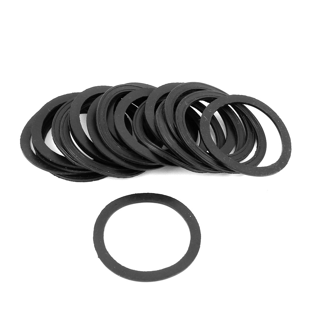 20PCS 44x35x1.8mm Flat Gaskets 0 Rings Seal Rubber Washers Black for PG29 Cable Gland