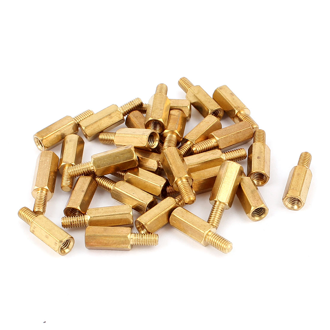 30Pcs M3 10mm+6mm Male to Female Brass Hexagon Standoff Spacer Pillar for PCB Motherboard