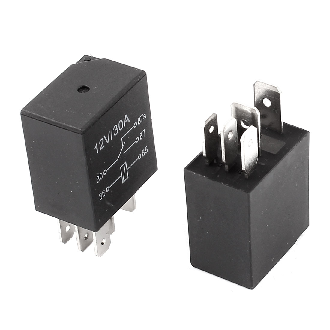 2pcs 5 Pin DC 12V Coil Voltage 30A SPDT Automotive Car Power Relay