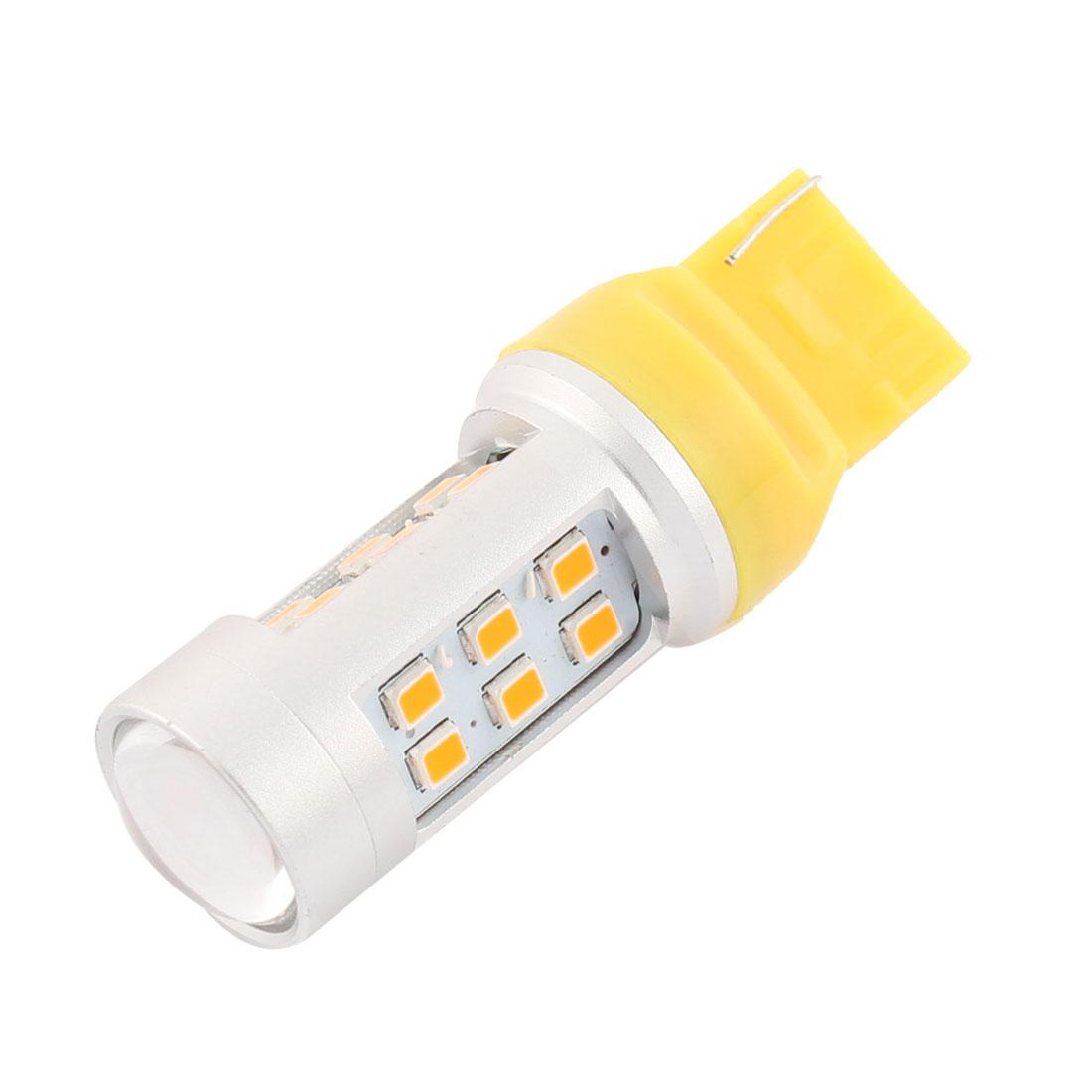 T20 W21W Yellow 21 LED Car Auto Reverse Signal Light Lamp Bulb 12V