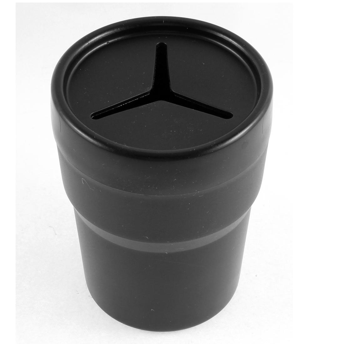Black Plastic Soft PVC Pen Coin Trash Bin Box Container Storage for Car