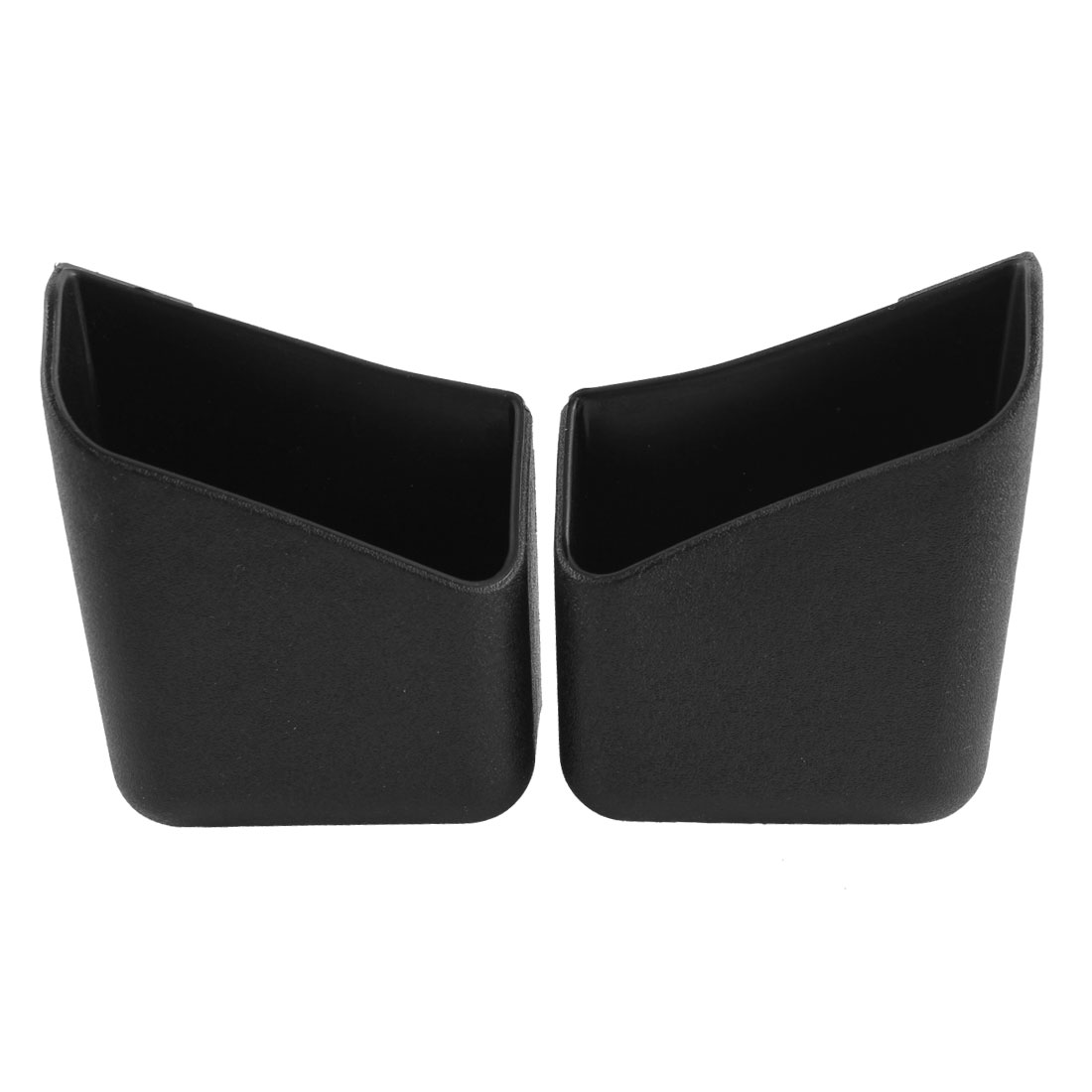 2 Pcs Black Plastic Adhesive Tape Vehicles Car Card Smart Phone Holder