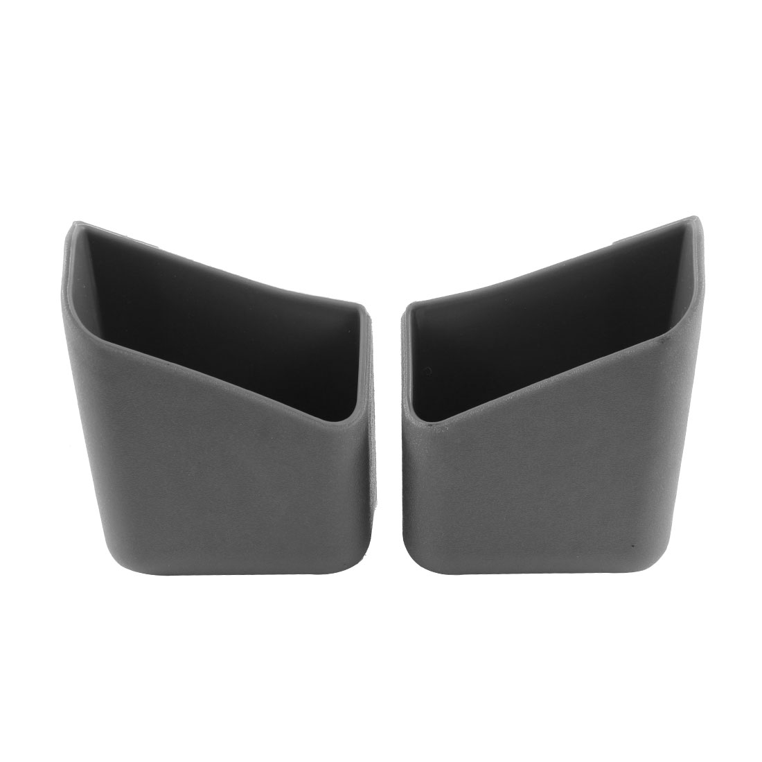 2 Pcs Gray Plastic Car Interior Shelf Adhesive Holder Storage