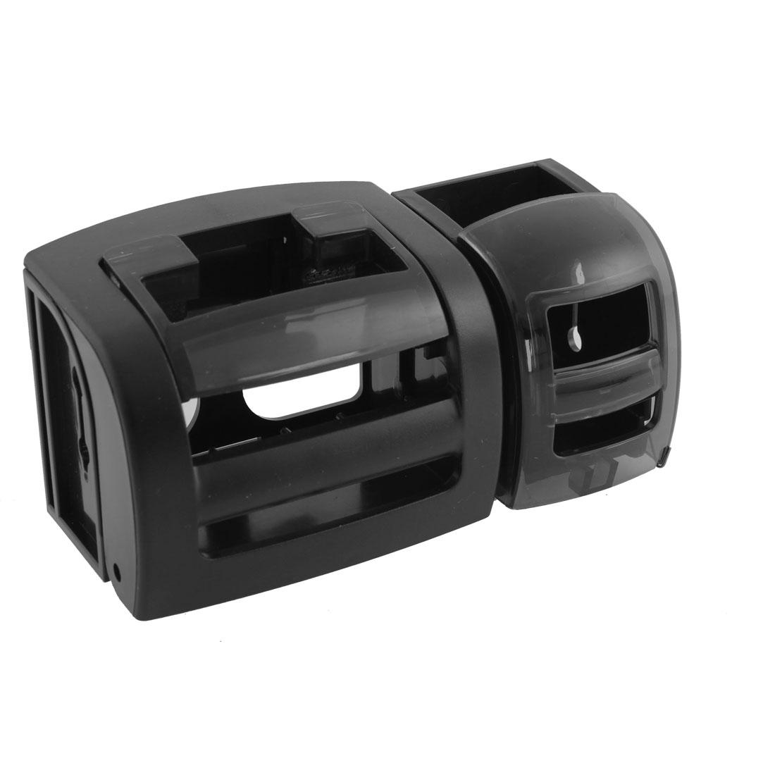 Black Plastic Car Interior 2 Drink Bottle Cup Holdeer Bracket